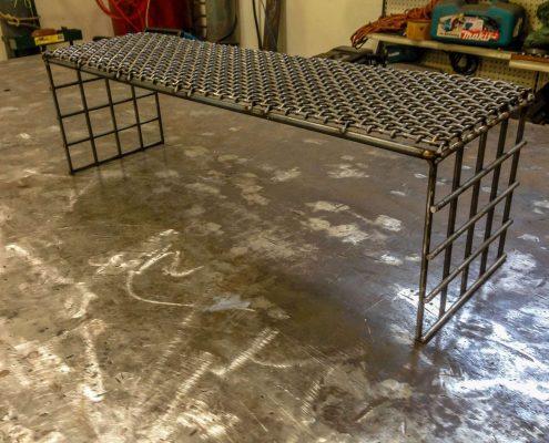 Custom metal coffee table