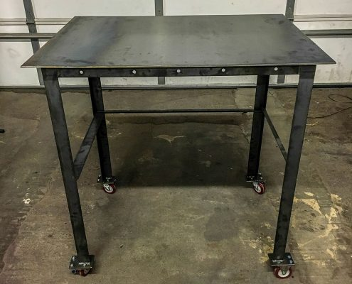Custom Rolling Metal Table